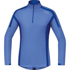 GORE RUNNING WEAR AIR Zip Shirt long Men blizzard/brilliant blue